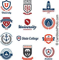 emblemas universitarios y universitarios