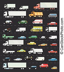 embotellamiento, transporte, camino, camino