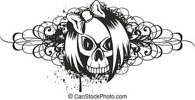 Emo de cráneo con patrón