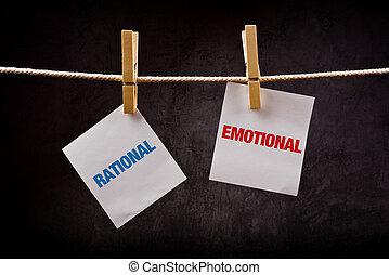 emocional, concept., contra, racional