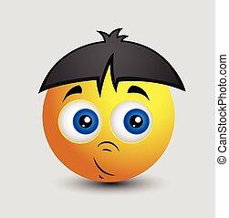 Emoji chino asustado inocente