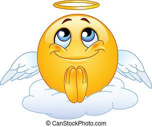 emoticon, ángel
