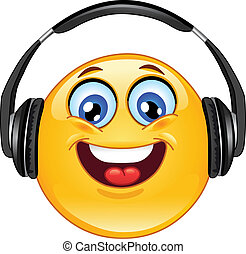 emoticon, auricular