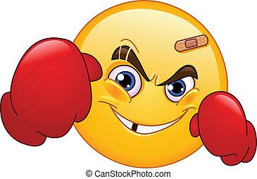 emoticon, boxeador