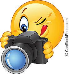 emoticon, cámara