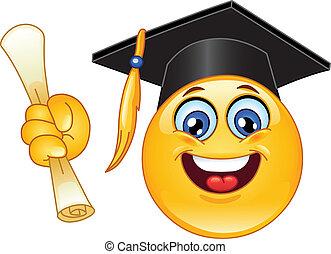 Emoticon de graduación