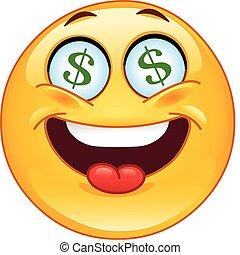 Emoticon de un dólar