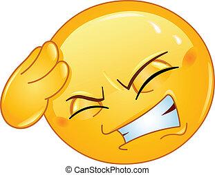 emoticon, dolor de cabeza