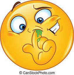 emoticon, nariz de la cosecha