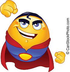 emoticon, super héroe