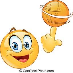 Emoticono de bola giratoria
