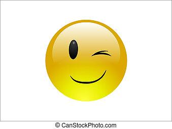 Emoticonos Aqua - guiño