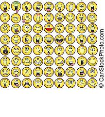 Emoticons emocionales vectores de iconos