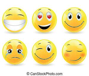 emoticons, vector