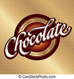 empaquetado, diseño, (vector), chocolate