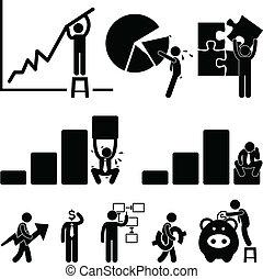 empleado, finanzas, empresa / negocio, gráfico