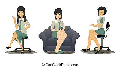 Empleados que trabajan con mujeres