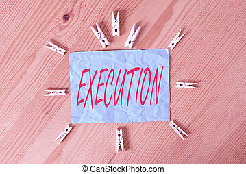 empresa / negocio, clothespin, execution., o, de madera, vacío, oficina., executes, programa, escritura, piso, papeles, concepto, palabra, él, orden, coloreado, acción, curso, recordatorio, plano de fondo, imposes, texto
