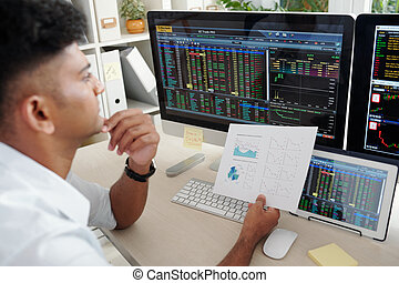 empresa / negocio, compañía, analizar, comerciante, actividad