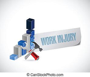 empresa / negocio, gráfico, trabajo, ilustración, diseño, lesión