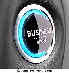 empresa / negocio, nuevo, -, entrepreneurship, concepto