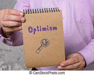 empresa / negocio, paper., señal, concepto, optimismo, pedazo, significado