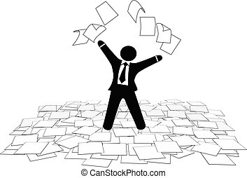empresa / negocio, piso, páginas, trabajo, aire, papel, tiros, hombre