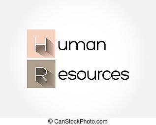 empresa / negocio, siglas, plano de fondo, recursos humanos, -, concepto, hora