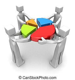 empresa / negocio, trabajo en equipo, logro, rendimiento, concepto