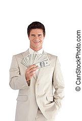 Empresario con dólares