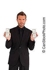 Empresario con dinero