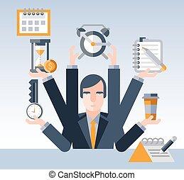Empresario de gestión del tiempo