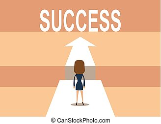 Empresario en camino al éxito en los negocios