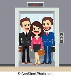 empresarios, elevador