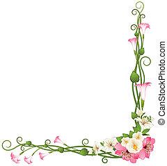 En el fondo con hermosas flores