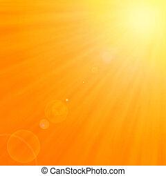 En el fondo, con sol y lente caliente