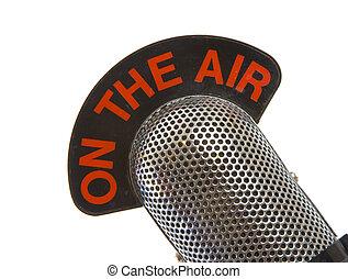 En el micrófono aéreo