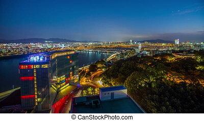 En el techo de la ciudad de Seúl
