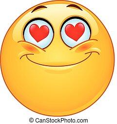 En emoticon amoroso