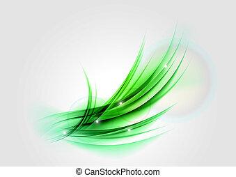 En forma verde abstracta
