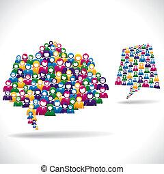 en línea, mercadotecnia, concepto, estrategia