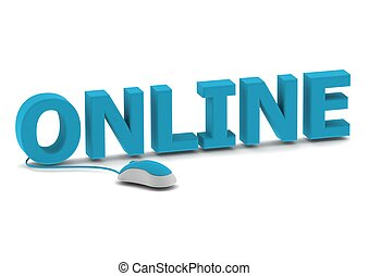 En línea y ratón informático