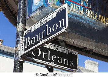 En la esquina de Bourbon y Orleans