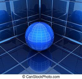 En la esquina de la habitación con bola