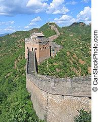 En la gran pared de China, China