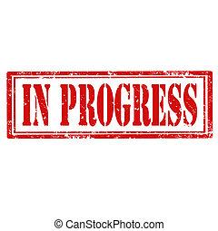 En la marca de progreso