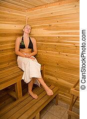 En la sauna