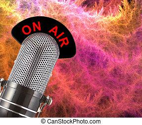 En micrófono aéreo