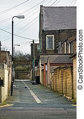 En un callejón del norte de Inglaterra