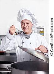 Encantado con el cocinero